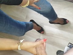 Cum in high heels