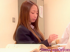 Japanese bondage teeny Anju Sana is old guys slave