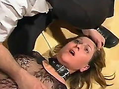 This blonde whore loves bondage, humiliation and pain