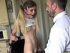 Rough master fucking blondde chick - anal, deepthroating, spanking