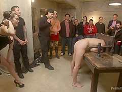 Dirty bondage and hard fucking in public